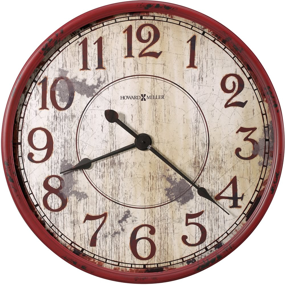 "32""h Back 40 Wall Clock Antique Red"