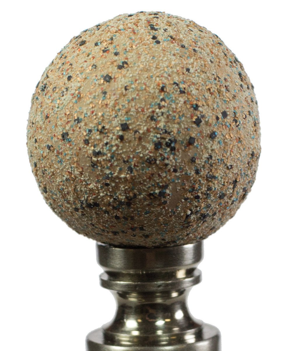 "2""H Ceramic  35mm Sand Ball Antique Base Finial"