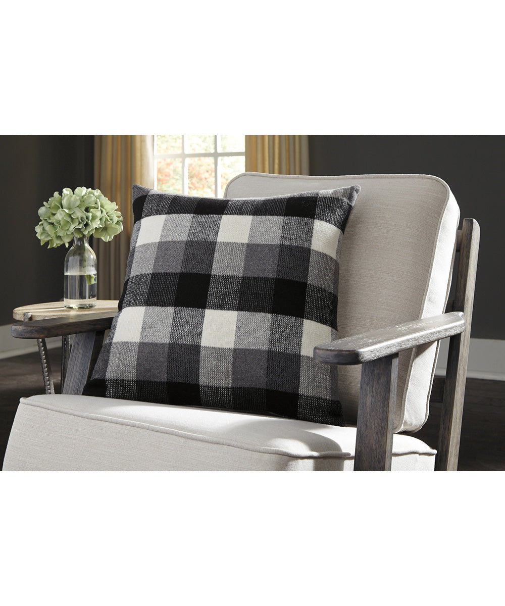"20""W Carrigan Pillow Set of 4 Charcoal/White"