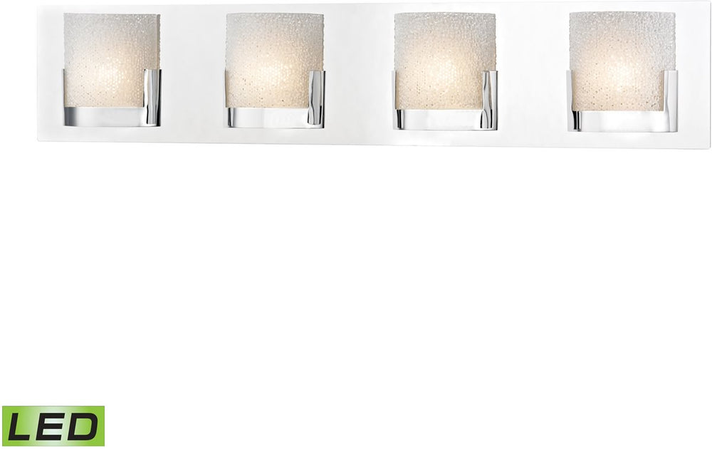 "30""W Ophelia 4-Light LED Vanity Chrome/Clear Glass"