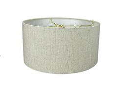 "16""W x 8""H Textured Oatmeal Hardback Drum Lampshade"
