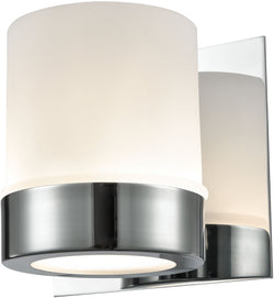 Mulholland 1-Light Vanity Chrome/Opal Glass