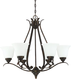 0-006660>McKinney 6-Light Chandelier Burleson Bronze