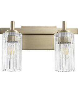 2-light Bath Vanity Light Aged Brass