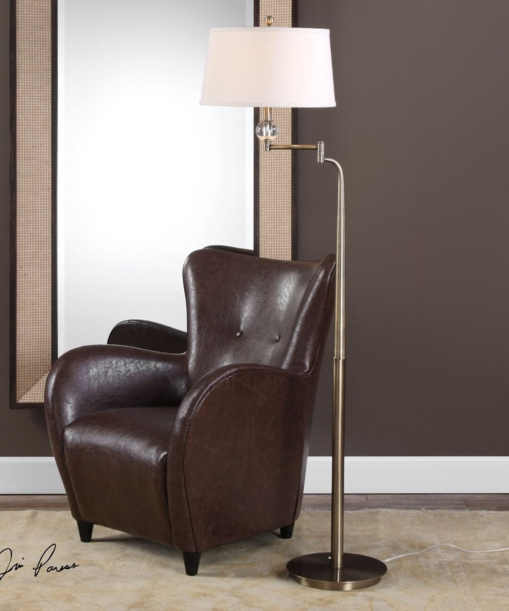 "66""H Melini Swing Arm Floor Lamp"