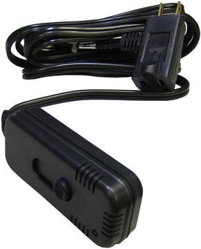 Satco Sliding Dimmer Switch with Cord Black