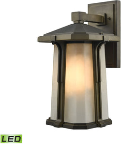 Brighton 1-Light LED Outdoor Wall Sconce Smoked Bronze