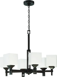 Urbane 6-Light Chandelier Oil Bronze Gilded