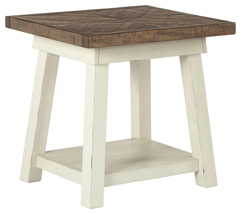 "25""H Stownbranner Rectangular End Table Two-tone"