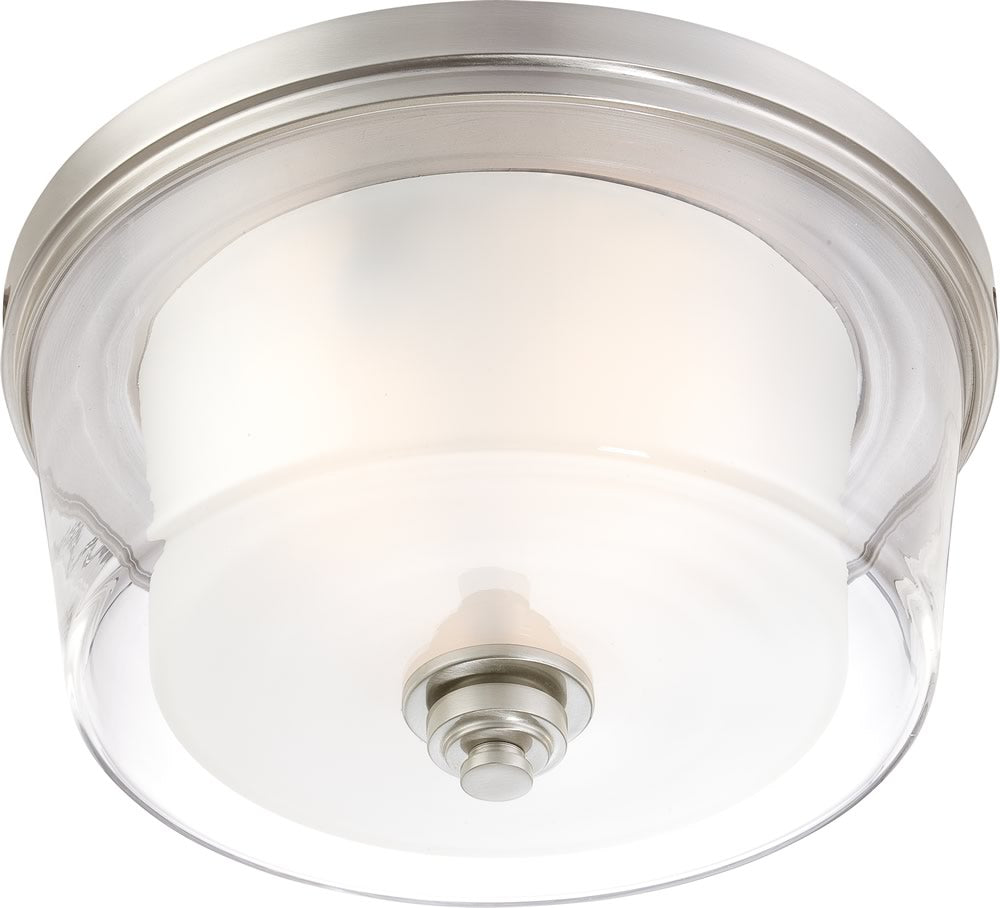 "15""W Decker 3-Light Close-to-Ceiling Brushed Nickel"
