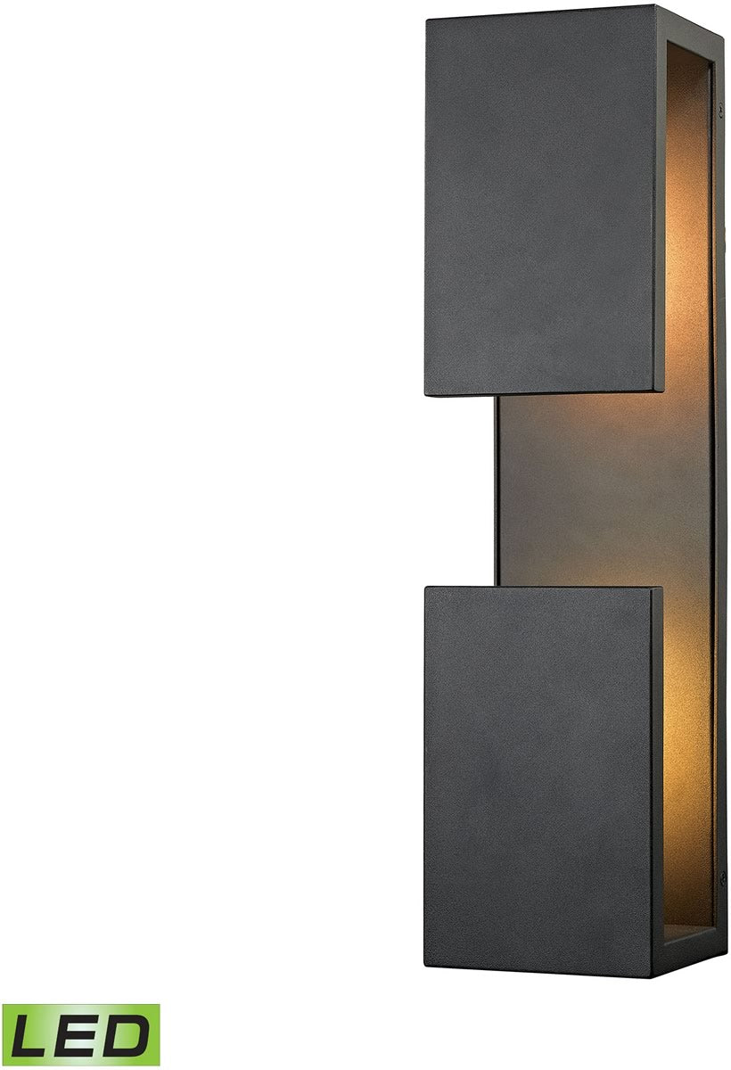 "19""H Pierre LED Outdoor Wall Sconce Textured Matte Black"