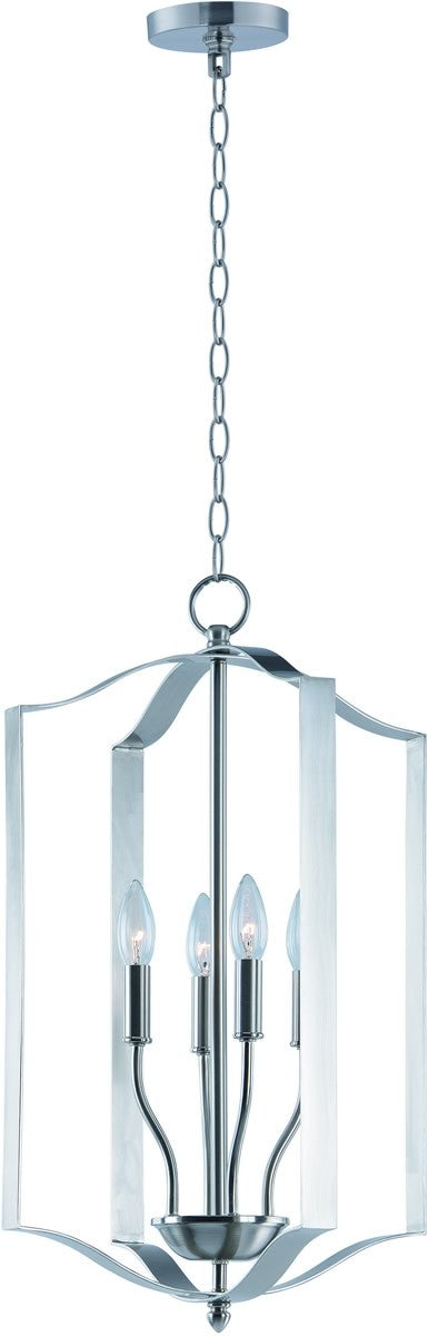 Provident 4-Light Chandelier Satin Nickel