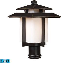 Outdoor post lights add a outdoor lamp post for your yard lighting kanso 1 light outdoor led pier mount hazlenut bronze mozeypictures Image collections