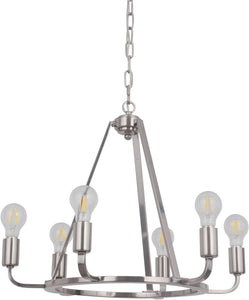 0-002985>Arc 6-Light Chandelier Polished Nickel