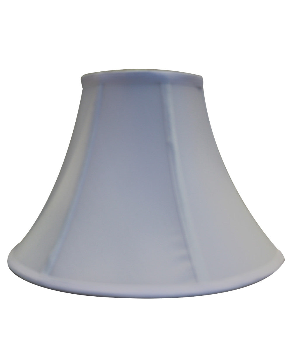 "14""W  x 10""H Round Bell Soft Back Lamp ShadeWhite Poly Dolan Designs"