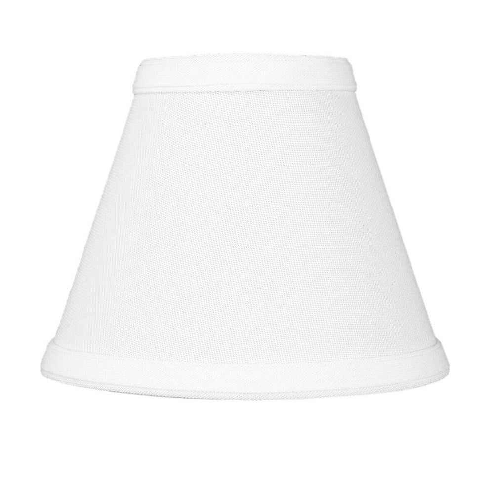 "6""W x 5""H Set of 6 Chandelier White Linen Clip-On Lampshade"