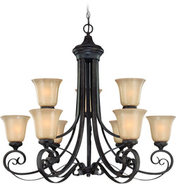 0-005375>Stanton 9-Light Chandelier English Toffee
