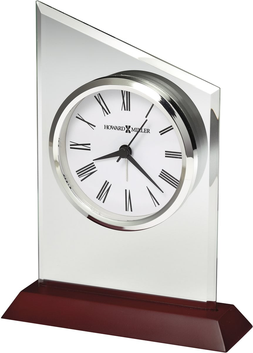 "7.25""h Benton Tabletop Clock Satin Rosewood"