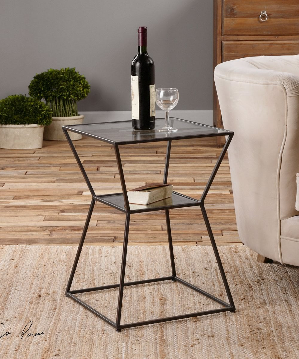 "23""H Auryon Iron Accent Table"