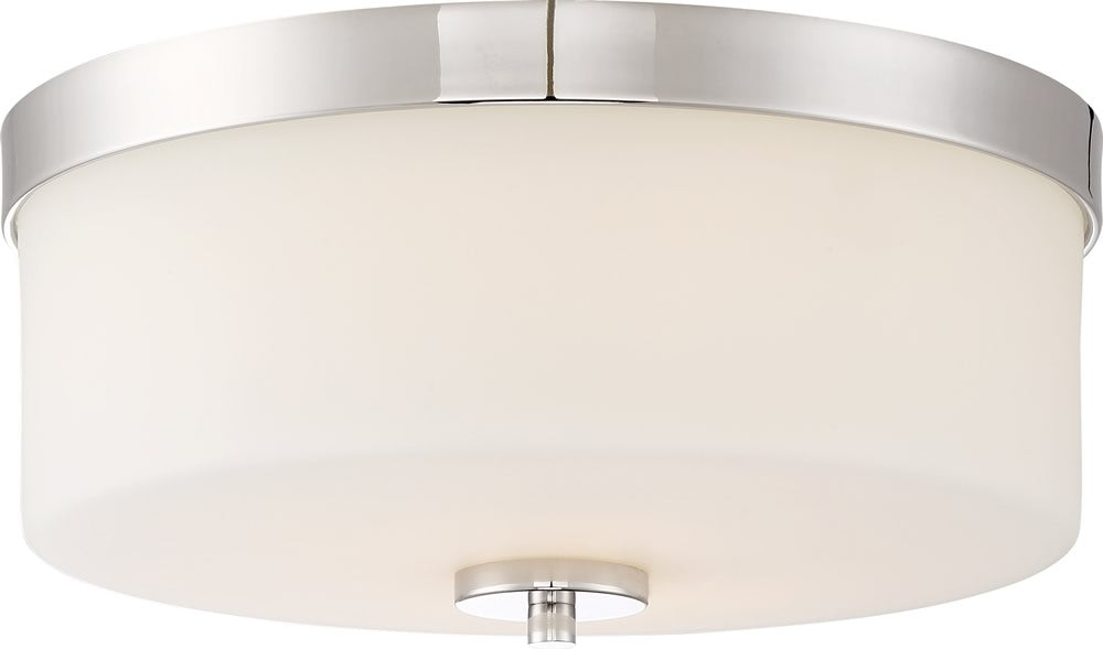 Denver 2-Light Close-to-Ceiling Polished Nickel