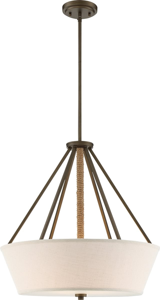 "22""W Seneca 4-Light Pendant Mahogany Bronze"