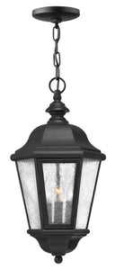 Edgewater 3-Light Outdoor Hanging Light in Black