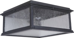 Gentry 1-Light Outdoor Flush Mount Midnight