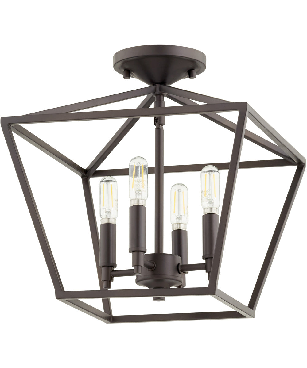 Gabriel 4-light Dual Mount Light Fixture Oiled Bronze