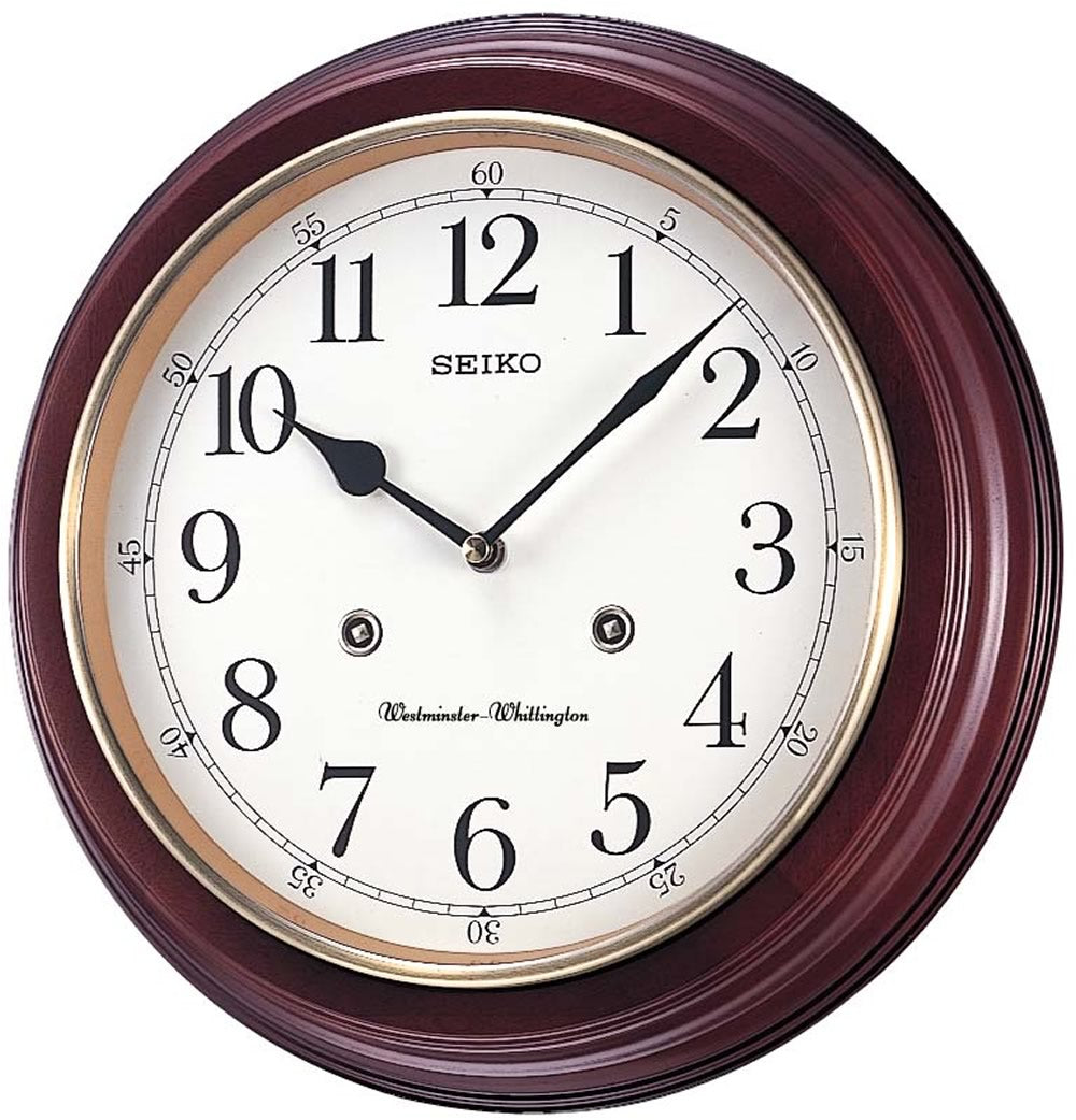 "12""H Wall Clock with Dual Quarter Hour Chimes"