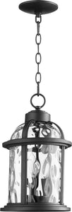 Winston 3-light Outdoor Pendant Light Noir