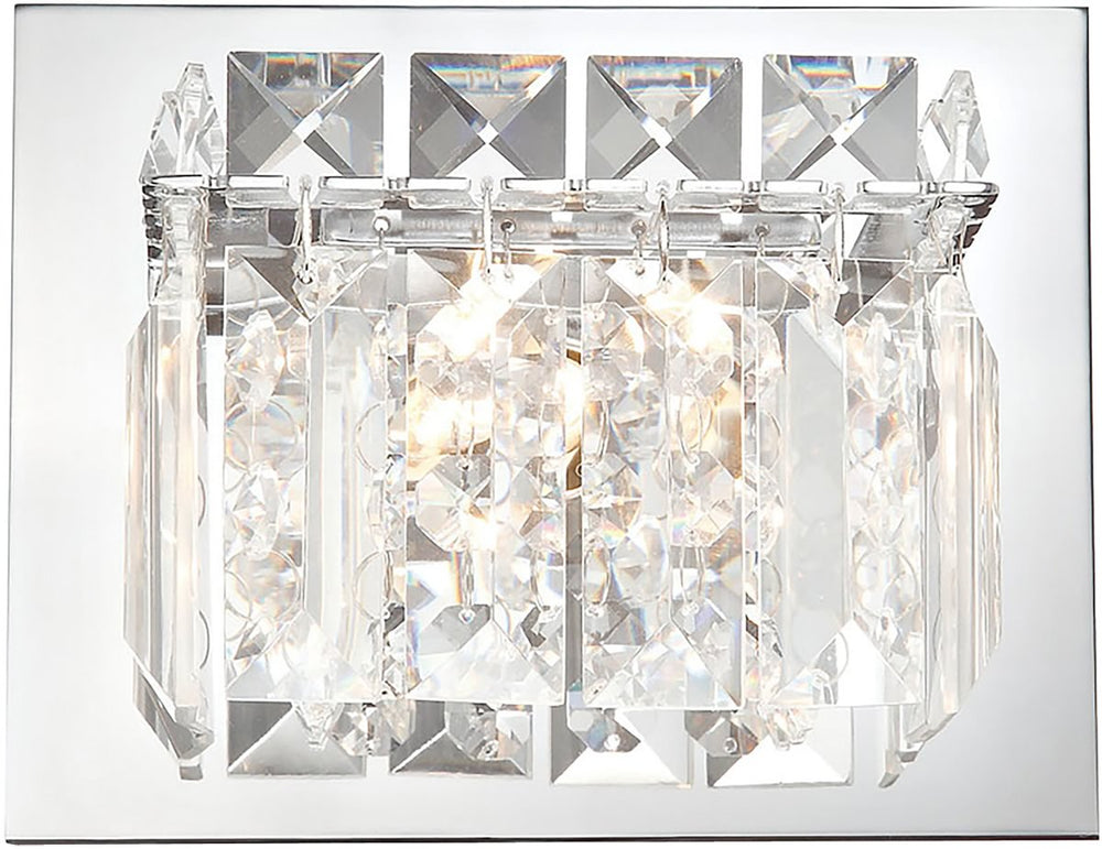"6""W Crown 1-Light Vanity Chrome/Clear Crystal Glass"
