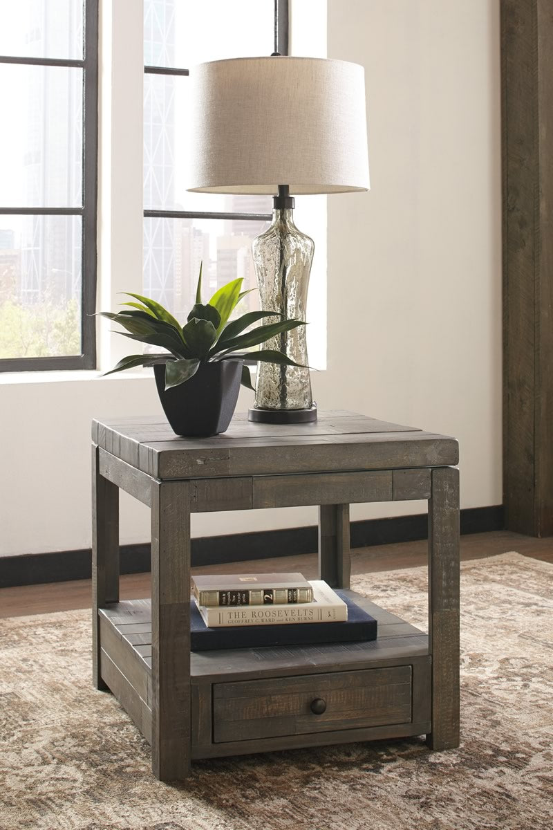 Daybrook Rectangular End Table Grayish Brown