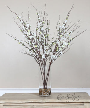 "36""H Quince Blossoms Silk Centerpiece"