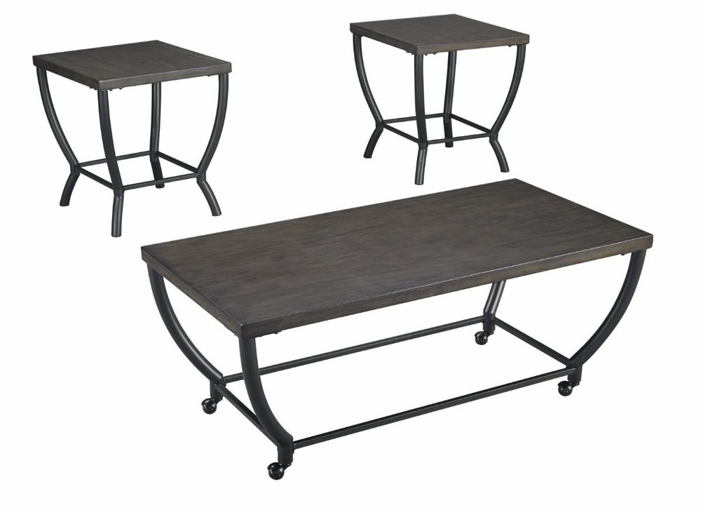 Champori Occasional Table Set (Set of 3) Grayish Brown