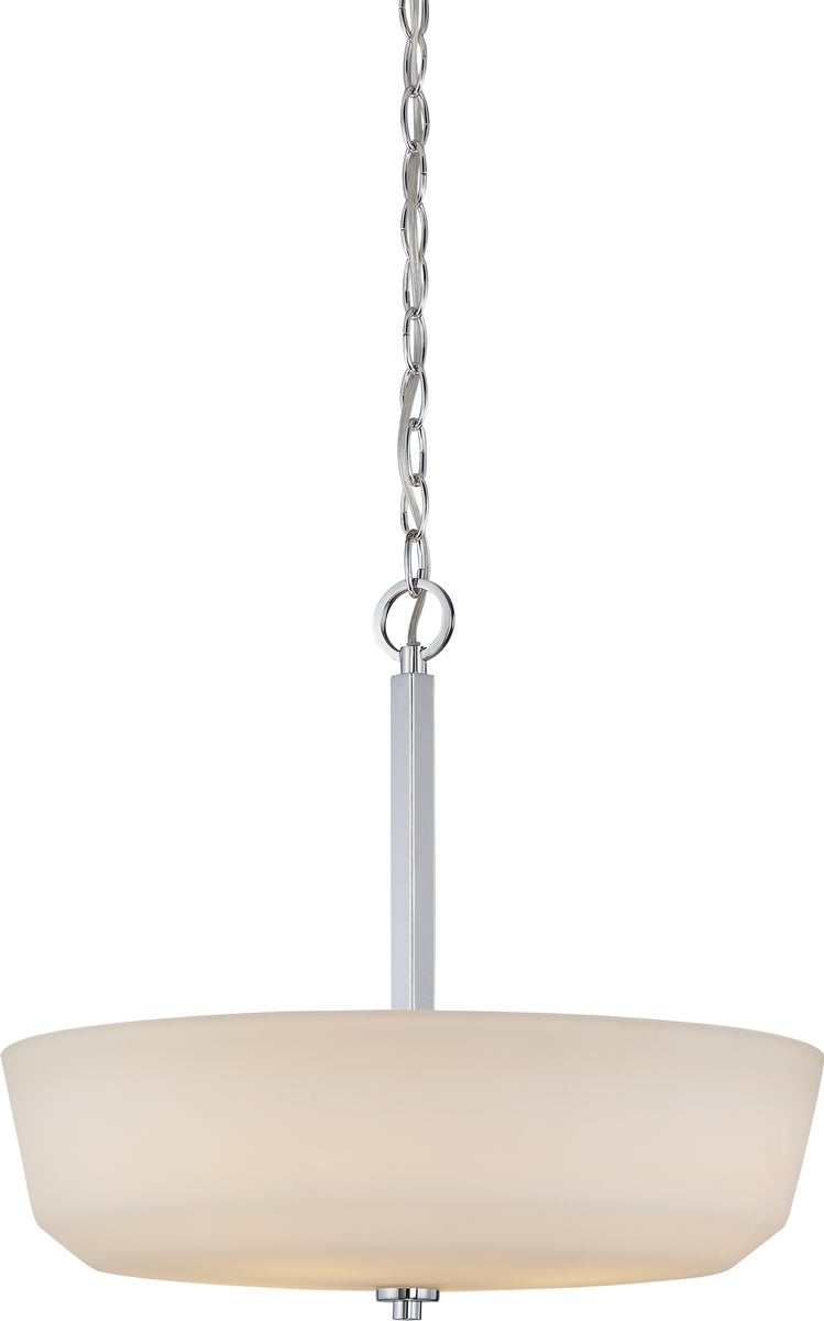 "18""W Willow 4-Light Pendant Polished Nickel"