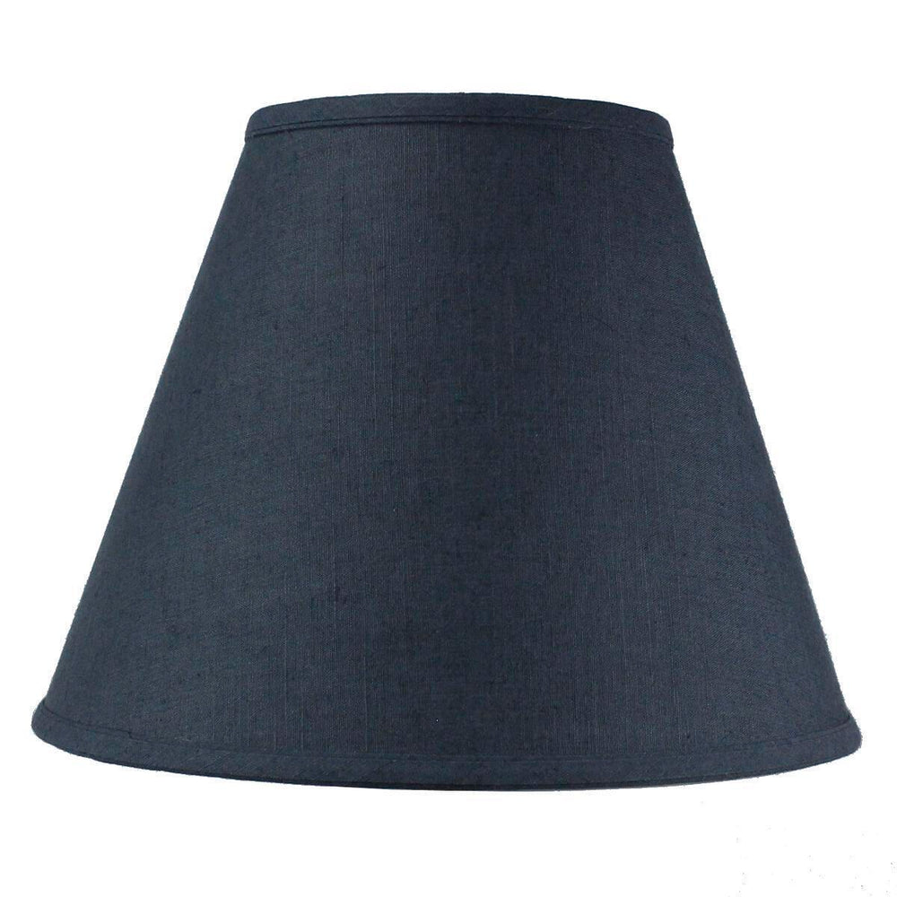 "14""W Textured Slate Blue 1 Light Swag Plug-In Pendant Hanging Lamp"