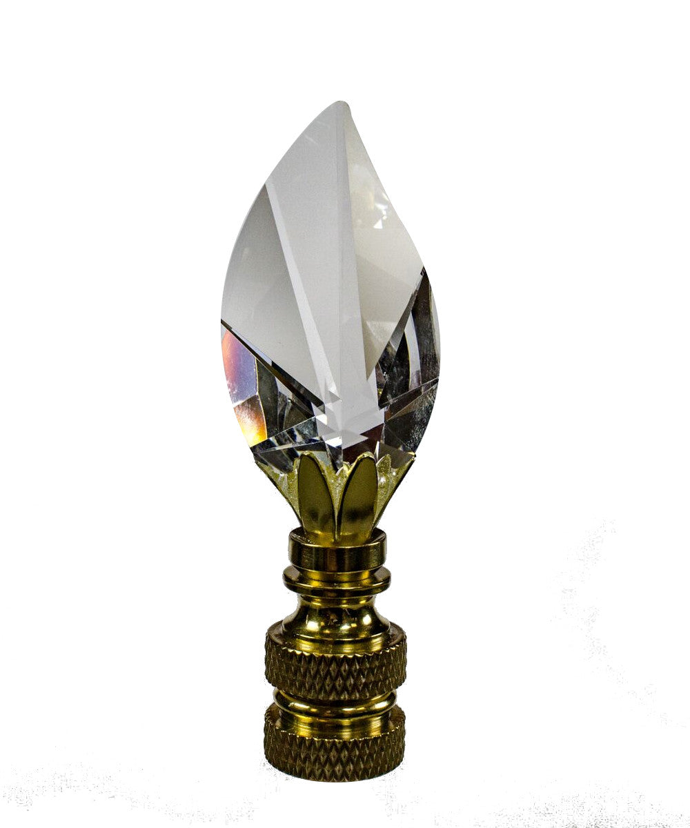 "Swarovski Crystal Clear Leaf Finial 2.5""h"