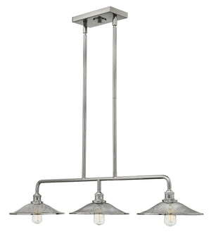 "40""W Rigby 3-Light Stem Hung Linear in Polished Nickel"