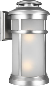 "20""H Newport 2-Light Wall Lantern Painted Brushed Steel"