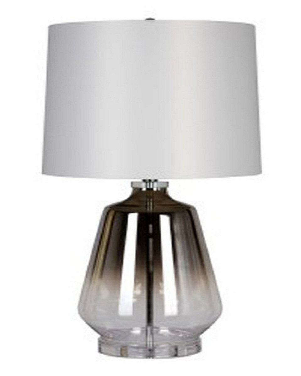 "28""H Jaslyn Glass Table Lamp Silver"