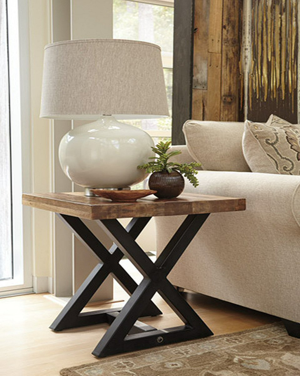 "24""H Wesling Square End Table Light Brown"