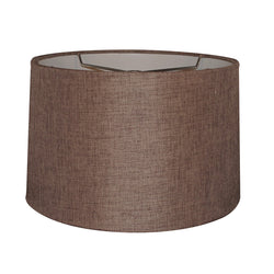12x14x10 Hardback Drum Lamp Shade Chocolate Burlap