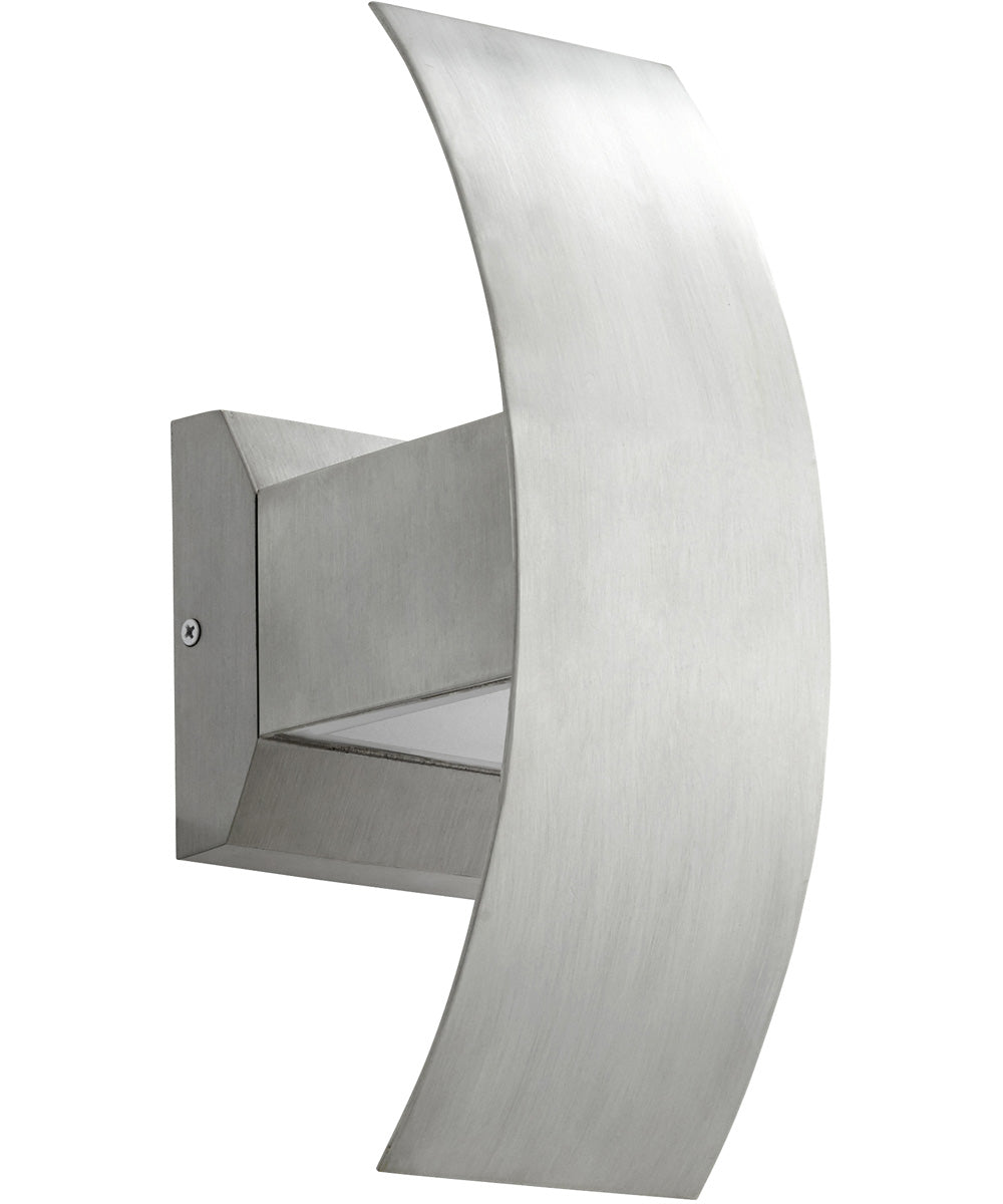 "5""W Curvo 2-light LED Wall Sconce Brushed Aluminum"