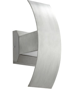 Curvo 2-light LED Wall Sconce Brushed Aluminum