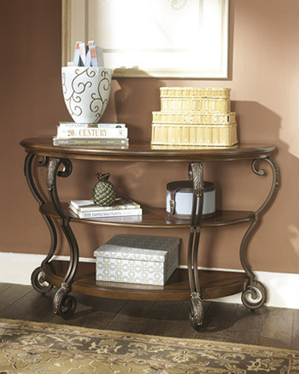 Nestor Sofa Table Medium Brown
