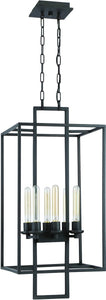 Cubic 6-Light Foyer Light Aged Bronze Brushed