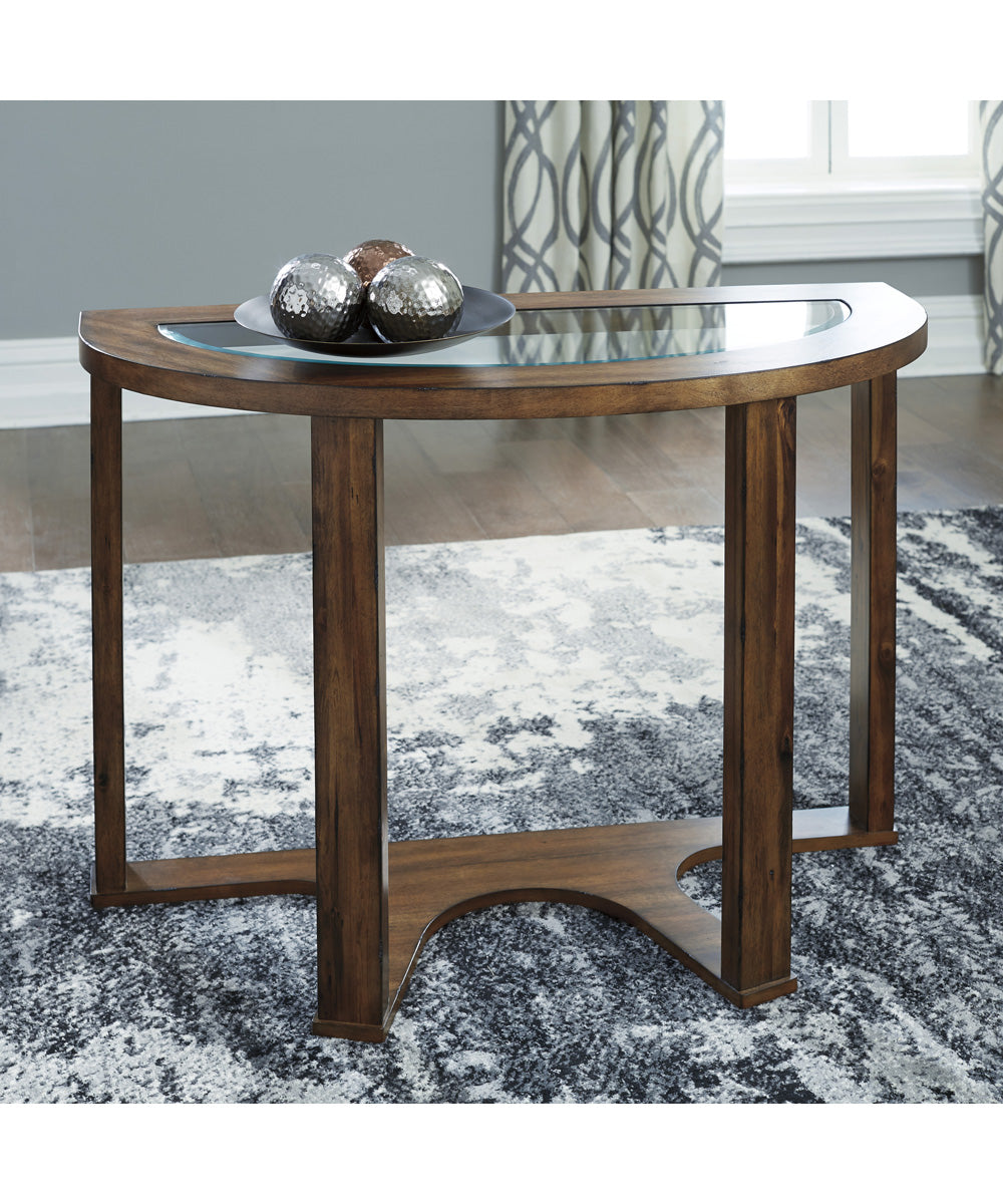 "28""H Hannery Sofa Table Brown"