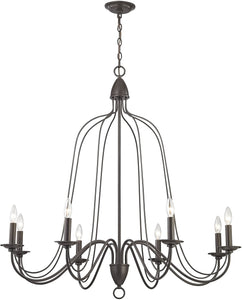Monroe 8-Light Chandelier Oil Rubbed Bronze