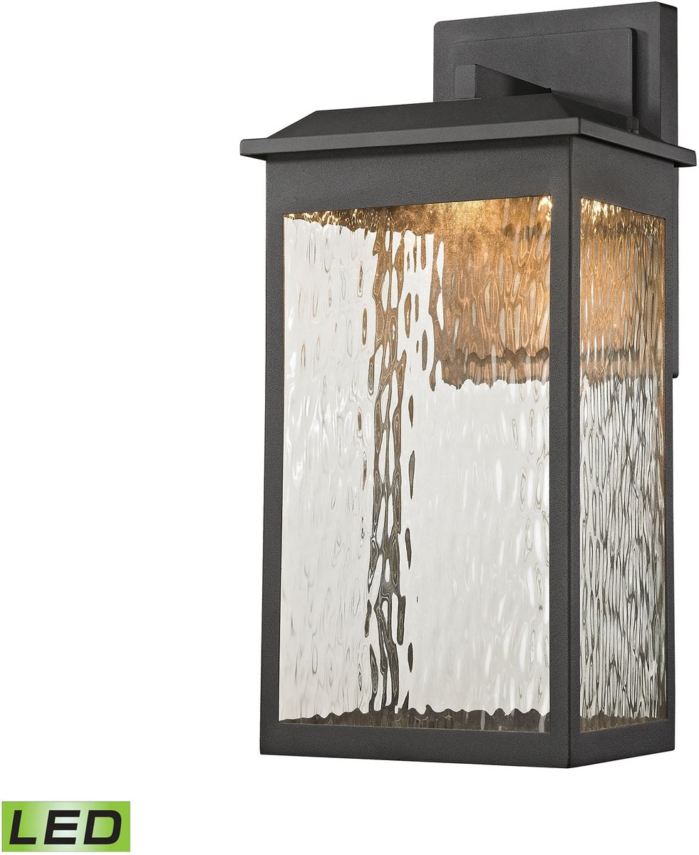 "17""H Newcastle LED Outdoor Wall Sconce Matte Black"