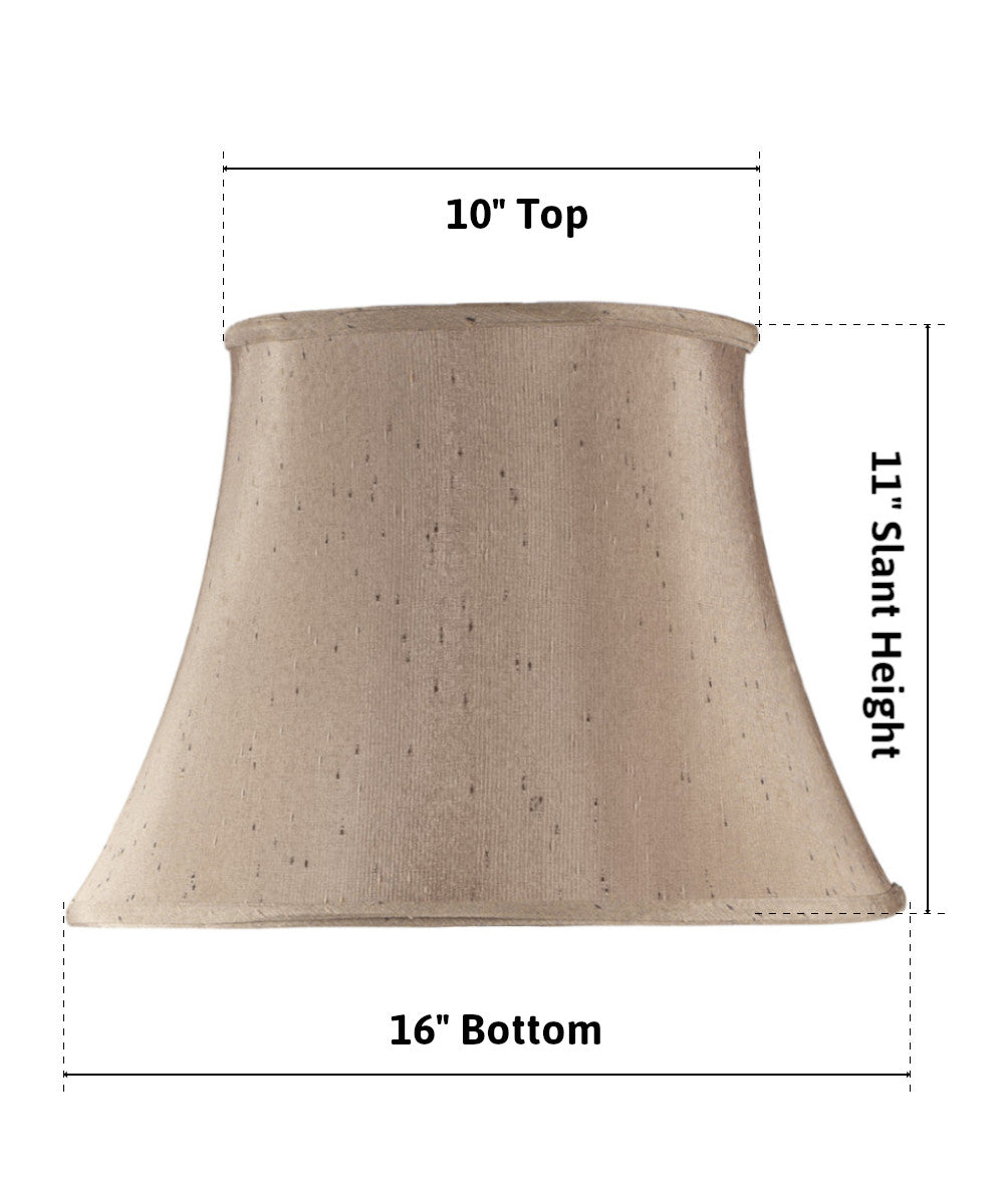 10x16x11 Textured Champagne Bell Lamp Shade